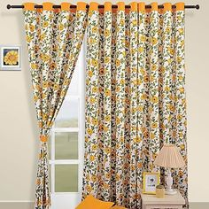 This season fill your home with the glow of amber and give a stylish vintage look to your home by draping your #doors and #windows with alluring floral print. The gleam of the sun will dilute through these curtains and gently touch your face and delight each morning of yours.