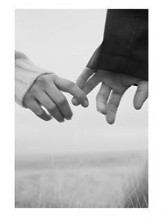 Hand holding shy couple or falling away/apart Shows different emotions to other hand holding image
