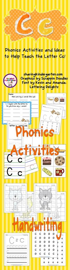 Phonics Activities to Help Teach Letter Cc (free; from Sharing Kindergarten)