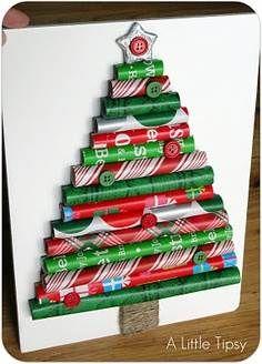 arbol de Navidad con reciclaje