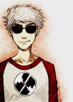 Dave Strider. Sudden unrequited love for this guy. Too much Homestuck! I actually just started reading it, pretty good, I can tell it will consume a lot of my time