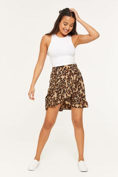 852493e1ea Leopard Wrap Mini Skirt - Clothing | Ardene