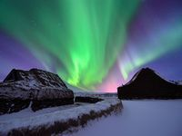 Iceland, There are igloos here that you can stay in and look up to watch the Northen Lights dance across the sky..Some one promised to take me there one day....