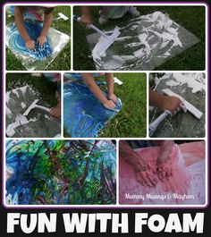 3 easy ideas using shaving cream as a medium to challenge sensory difficulties...fun for toddlers and older children too!