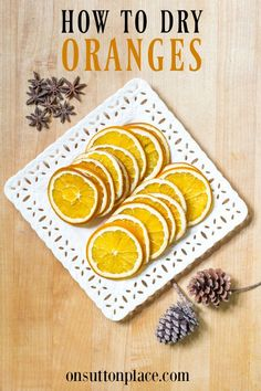 Learn how to make DIY dried oranges for simmering scent/potpourri, crafts & for beverage garnishes. No special equipment needed! How to dry orange slices. Homemade Potpourri, Simmering Potpourri, Potpourri Recipes, Homemade Christmas Gifts, Homemade Gifts, Homemade Food, Diy Food, Handmade Christmas, Diy Gifts