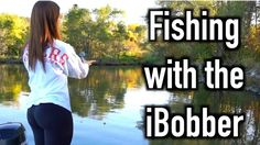 Girlfriend fishing with iBobber Real Sonar Fish Finder