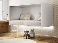 Suspended single bed CLOUD by Lago design Daniele Lago