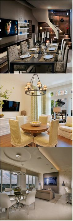 20 Flat Screen TV Furniture in the Dining Room      Flat screen televisions may not be the latest in television technology, but getting one or two for your homes is a big deal for the family. In the dawn of slim furniture, cellular phones and even in shoes – having a slim TV at home will not o...