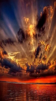 Beautiful sunset with clouds Beautiful Sunset, Beautiful Images, Pretty Pictures, Cool Photos, Amazing Nature, Amazing Sunsets, Belle Photo, Nature Photos, Beautiful Landscapes