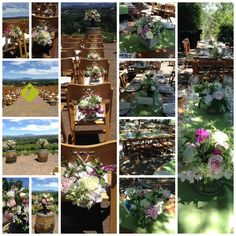 June 2015 - Thomas George Estate Wedding - Healdsburg - Flowers by Dragonfly Floral - June Events, One Fine Day, Ladder Decor, Table Decorations, Floral, Flowers, Plants, Wedding, Home Decor