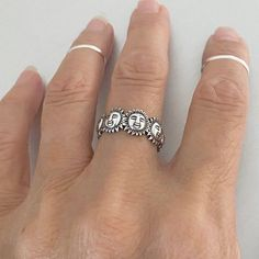 Silver Ring Designs, Mens Silver Rings, Chunky Silver Rings, Silver Gifts, Vintage Silver Rings, Cute Jewelry, Jewelry Accessories, Women's Jewelry, Crystal Jewelry