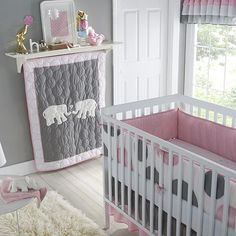Elephant nursery bedding sets elephant baby bedding set elephant bedding nursery com pink and grey elephant . Elephant Nursery Bedding, Crib Bedding Boy, Nursery Bedding Sets, Nursery Themes, Nursery Ideas, Elephant Quilt, Elephant Blanket, Room Ideas, Girl Nursery