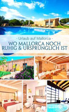 Herzlich begrüßen uns Maria und Xisco in ihrem Hotel auf Mallorca, das sich inmitten ruhiger Natur im idyllischen Süden der Insel befindet. In den alten Mauern des bis auf das 12. Jahrhundert zurück gehende Gebäudes, haben sich die Gastgeber einen Traum erfüllt und ein ganz wunderbares kleines Hotel auf Mallorca gezaubert. Fernab jeglichen Trubels können Gäste hier einen entspannten Urlaub am Pool oder im kleinen SPA-Bereich verbringen. Design Hotel, Reisen In Europa, Majorca, Hotels, Travel Tips, Mansions, House Styles, Outdoor Decor, Camping