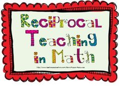+ images about Reciprocal Teaching on Pinterest | Reciprocal teaching ...