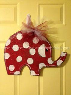 Alabama Elephant Doorhanger on Etsy, $40.00