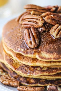 Guest Blogger : Beard and Bonnet // Gluten-Free Pumpkin Pancakes | BHG Delish Dish
