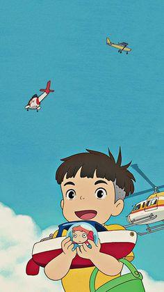 Studio Ghibli Art, Studio Ghibli Movies, K Wallpaper, Cute Anime Wallpaper, Hayao Miyazaki, Totoro, Chica Anime Manga, Anime Art, Studio Ghibli Background