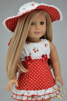 "Handcrafted doll clothes fits AG Dolls OOAK "" Special Occasion "" ( 3pieces - Dress, Hat, & Shoes )"