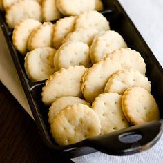 Healthy, homemade ritz crackers. No processed ingredients, no HFCS.