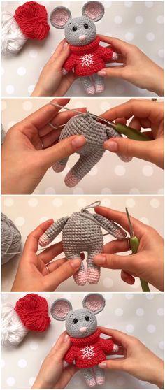 Learn To Crochet Mouse - Free Pattern Learn to crochet mouse f., Diy Abschnitt, kostenlos Amigurumi Learn To Crochet Mouse - Free Pattern Learn to crochet mouse f. Giraffe Crochet, Crochet Bunny Pattern, Crochet Rabbit, Crochet Mouse, Crochet Toys Patterns, Crochet Patterns Amigurumi, Crochet Crafts, Knitting Patterns, Crochet Unicorn