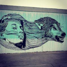 Work by Copenhagen, Denmark street art graffiti- Break Free. Murals Street Art, Street Art Graffiti, Amazing Street Art, Amazing Art, Illustrations, Illustration Art, Metamorphosis Art, Don John, Denmark Street