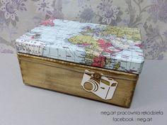 decoupage, handmade , wood, box