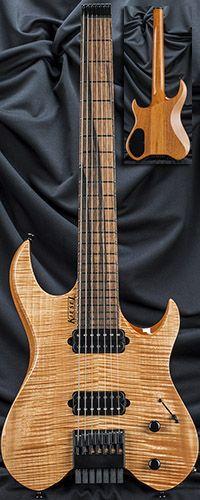Kiesel Guitars V7 Vader 7-String Headless Guitar Serial Number 135380