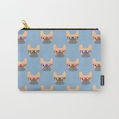 New In Store French Bulldogs Carry All Pouches