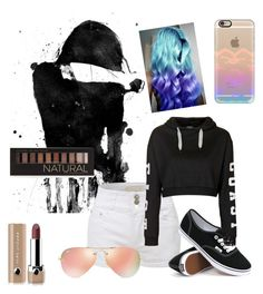 """""""for me"""" by madhatter-000122334455 ❤ liked on Polyvore featuring LE3NO, Topshop, Vans, Forever 21, Marc Jacobs, Casetify and Ray-Ban"""
