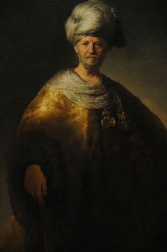 """""""Man in Oriental Costume"""" by REMBRANDT (1632)"""