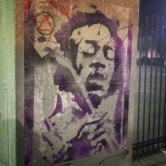 Se7en   Jimi Hendrix Stencils / Multiple layers / Mult-Colors / Wheat Paste Art / Street Art   There is no rest for the wicked / marilyn monroe / Mirror mirror on the wall / stencil