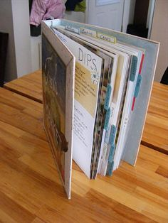 recipe organizer (I like the idea but would like to include pictures in the binder) - active link