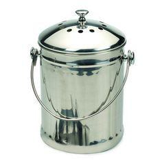 Endurance Stainless Steel Compost Pail, 1 Gallon