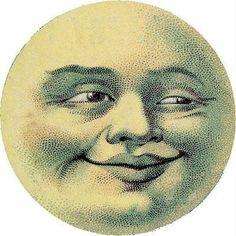 Winking moon