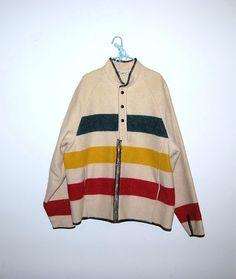 Vintage Coat Blanket Style Woolrich by CheekyVintageCloset on Etsy, $94.00