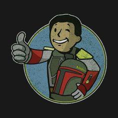 Awesome 'Bounty+Boy' design on TeePublic! Fallout 4 Funny, Fallout Art, Atomic Punk, Bioshock Cosplay, Pip Boy, Cartoon Crossovers, Star Wars Humor, Bounty Hunter, Boba Fett