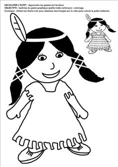 La petite école dans la prairie : la maternelle de Naternelle TPS PS MS: mai 2009 * 1500 free paper dolls at international artist Arielle Gabriels The International Paper Doll Society also free Chinese paper dolls The China Adventures of Arielle Gabriel * American Indian Art, Early American, American Indians, Native American, Animal Coloring Pages, Coloring Books, Cowboys And Indians, Wood Burning Art, Child Day