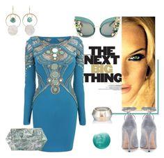 """aquamarine"" by tinkabella222 ❤ liked on Polyvore featuring Zoe, Melissa Joy Manning, Dolce&Gabbana, Matthew Williamson, Rafe, Valentino and Deborah Lippmann"