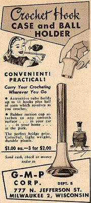 Oh, to be a crocheter in the 1950's...  -------  love this.Be nice if they still made   this-TD.