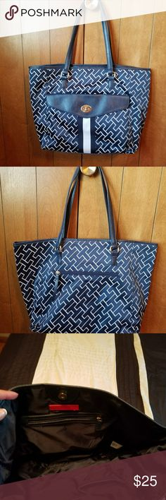 Handbag One pocket on front with snap closure. One zip pocket on back. One zip pocket inside with two slip pockets. Clean,  no stains. Smoke free and pet free home. Tommy Hilfiger Bags Shoulder Bags