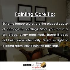 ‪Take care of your precious painting before its late!  #Monsoon #TipOfTheDay #PaintingCare #Maintainance #Temperature #Art #ArtGallery