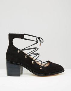 ASOS OOH LA LA Ghillie Lace Up Shoes