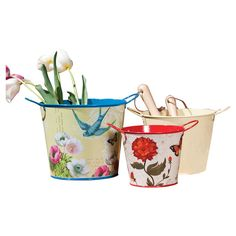 Metal bucket set - you could use wrapping paper