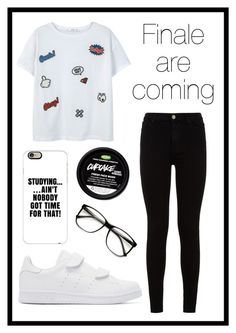 """""""#407 finals"""" by xjet1998x ❤ liked on Polyvore featuring MANGO, 7 For All Mankind, adidas Originals and Casetify"""