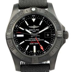c6bac3d5acd 15676 Breitling Aeromarine Avenger II GMT Black Steel Watch M32390 Unworn  SwissWatchExpo Swiss Luxury Watches