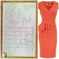 V front dress pattern The best DIY projects & DIY ideas and tutorials: sewing, paper craft, DIY. Sewing Paterns, Dress Sewing Patterns, Clothing Patterns, Pattern Dress, Diy Clothing, Sewing Clothes, Fashion Sewing, Diy Fashion, Fashion Sets