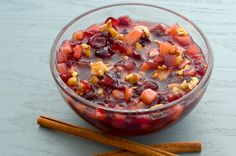 This cranberry sauce is awesome. It can be made ahead of time, the ingredients are readily available, it requires very little time and effort, and keeps well...