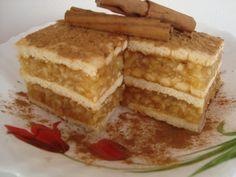 Hungarian Desserts, Hungarian Recipes, No Bake Desserts, Easy Desserts, Dessert Recipes, Cookbook Recipes, Cooking Recipes, Biscuit Cake, Romanian Food