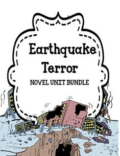 Earthquake Terror - Novel Activities Unit Off for 48 Hours Pre Reading Activities, Friend Activities, Vocabulary Activities, Authors Purpose Activities, Character Traits Activities, Cause And Effect Activities, Author Studies, Literacy Centers, Language Arts