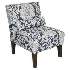 Dahlia Slipper Chair in Athens Smoke